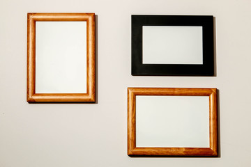 background with picture frames.