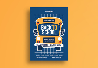 Back to School Flyer Layout