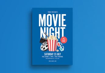 Movie Night Flyer Layout