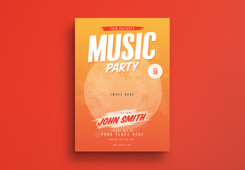Music Party Flyer Layout