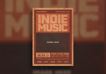 Indie Music Flyer Layout