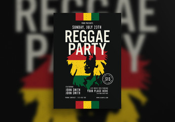 Reggae Party Flyer Layout