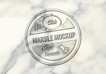 Marble Logo Mockup