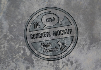 Concrete Logo Mockup