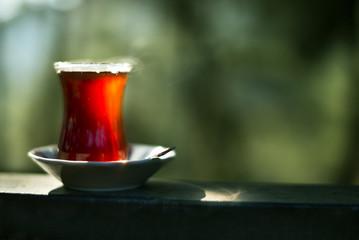 Turkish tea outdoor.