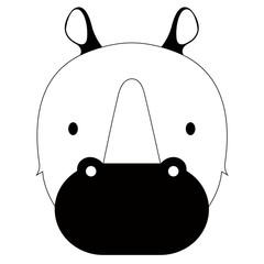 Isolated cute rhino avatar