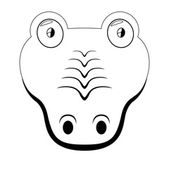 Isolated cute crocodile avatar
