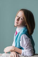 portrait of a tween girl