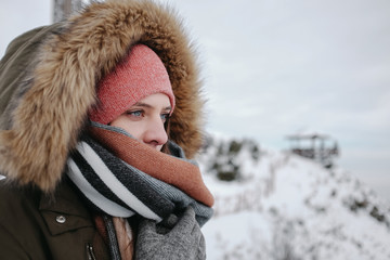 Winter female portrait