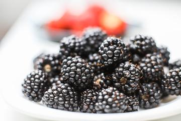 plenty of fresh blackberries