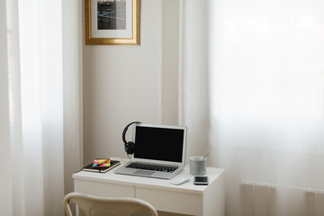 Workspace at home.