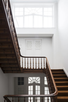 Staircase in mansion