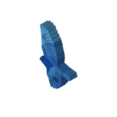 bird isometric right top view 3D icon