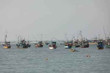 Fischerboote in Sri Lanka