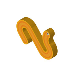 Worm isometric right top view 3D icon