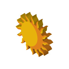 Sun isometric right top view 3D icon