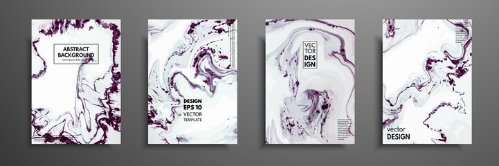 Mixture of acrylic paints. Design template with fluid art. Vector banner with colorful texture. Applicable for covers, presentation, invitation, flyers, annual reports, posters and business cards.