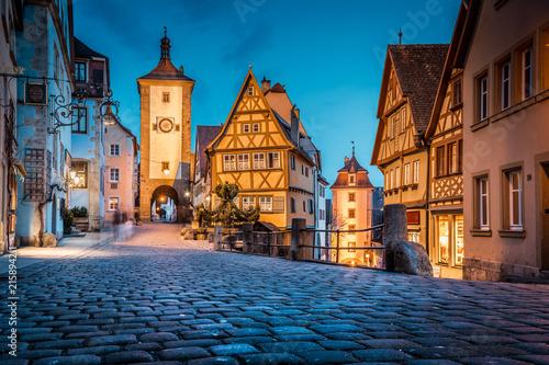 rothenburg ob der tauber at twilight bavaria germany fotolia com