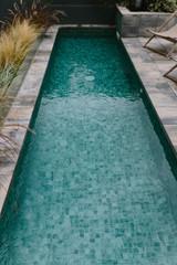 View Down Narrow Swimming Pool
