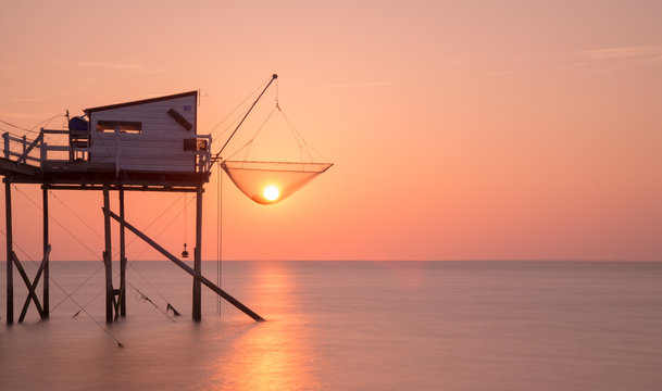 Coucher de soleil Esnandes Charente Maritime France