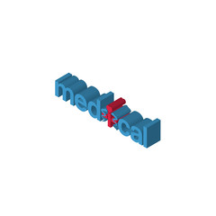 medical isometric right top view 3D icon