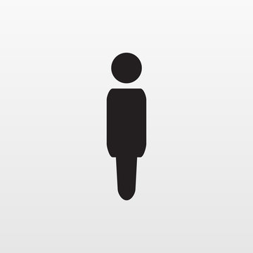 Gray man icon isolated on background. Modern flat pictogram, business, marketing, internet concept.