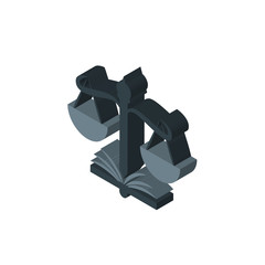 naacp isometric right top view 3D icon