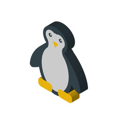 Penguin isometric right top view 3D icon