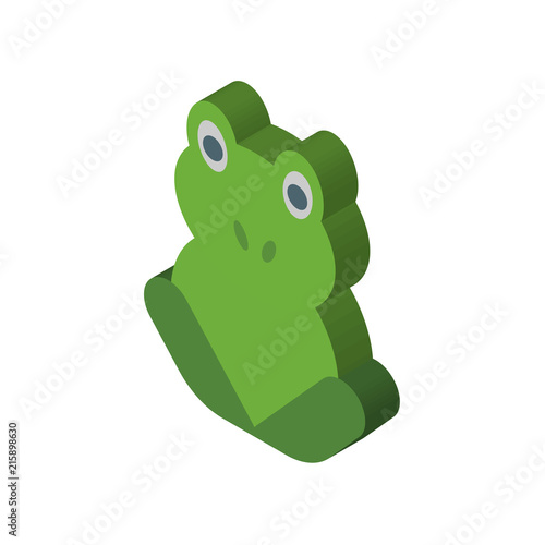 Frog vector icon isolated on transparent background, Frog logo