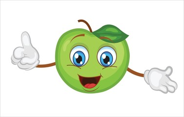 cartoon apple character