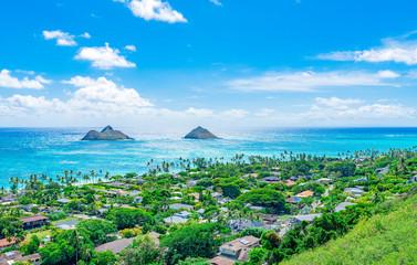 ハワイ オアフ島カイルア・ラニカイビーチ「天国の海」