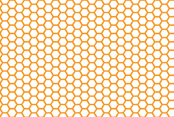 Honeycomb seamless background. Simple seamless pattern of bees honeycomb. Illustration. Vector print.