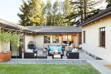 Back patio of home in California