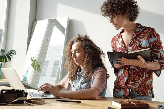 Women running startup business