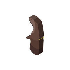 otter isometric right top view 3D icon