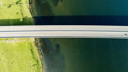 Highway bridge over the ocean