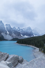 Beautiful lake in Rocky Mountains