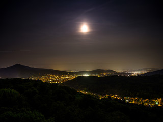 Night view from Baldegg