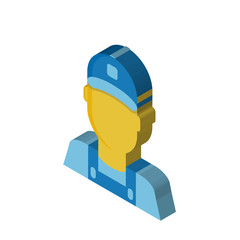 Clerk isometric right top view 3D icon