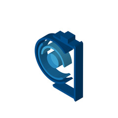 camera isometric right top view 3D icon