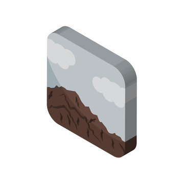 sierra isometric right top view 3D icon