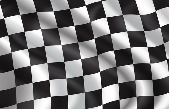Vector background of checkered flag pattern