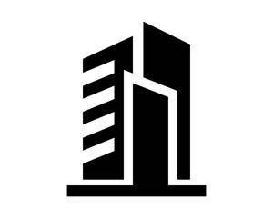 building silhouette tower skyscraper cityscape skyline image vector icon logo