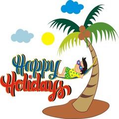 Happy Holidays background illustration