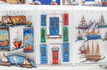 Souvenirs for sale, Mykonos, Greece