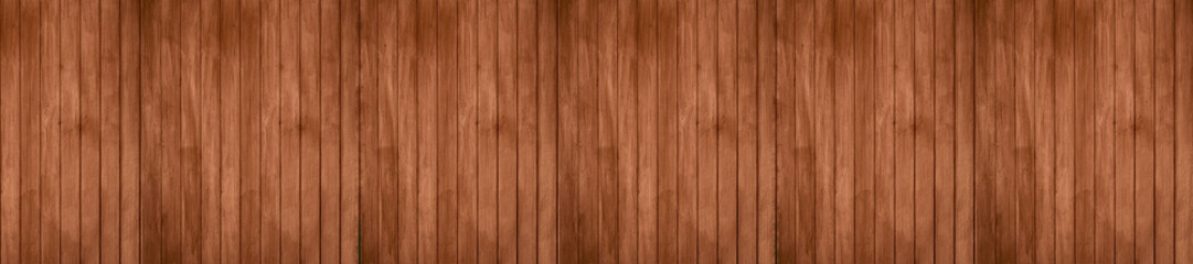 Panorama of old rustic natural grunge brown wood texture free background surface pattern.
