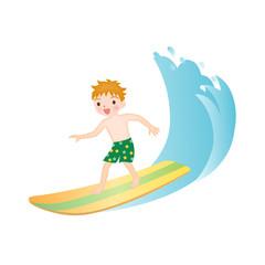 サーフィンをする男の子