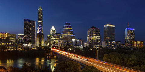 Austin City, Texas - Skyline at Twilight