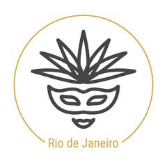 Rio de Janeiro, Brazil Vector Line Icon