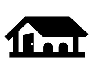 black house housing home residence residential residence real estate image vector icon logo